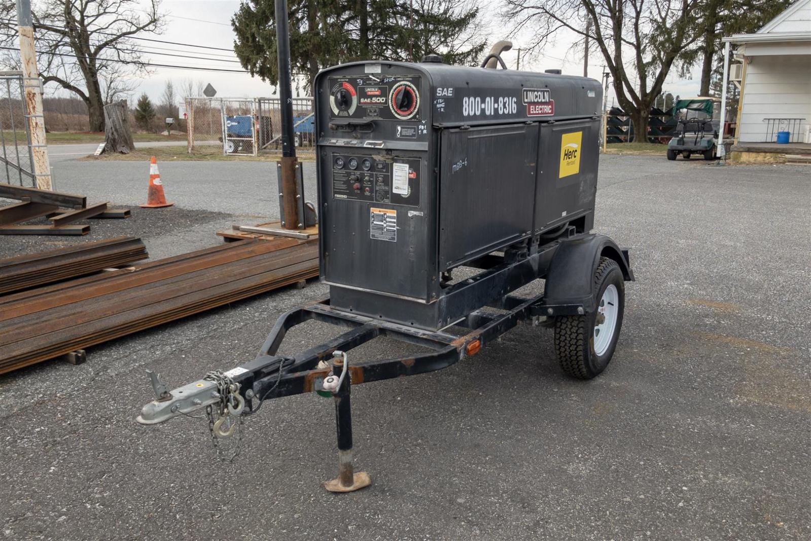 Lincoln SAE-500 Diesel Welder Engine-Driven Welder ...