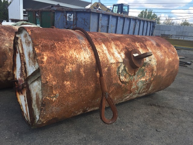 Offshore Mooring Buoy, Steel Cylinder Ship Buoy, 5' Dia x 12' Long