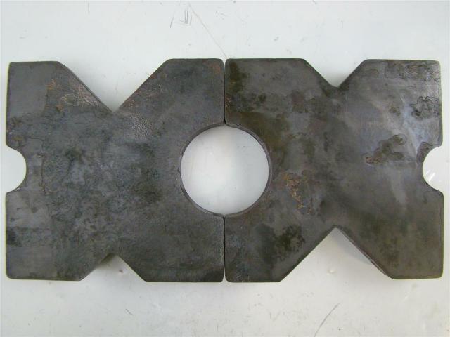 "(PAIR) 9.75x9.75 Arbor Plates 1.5"" Thick, Hydraulic H-Frame Shop Press, V-Cut"