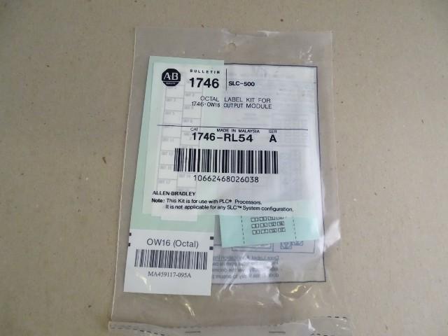 Allen Bradley  Octal Label Kit  , 1746-RL54 SER A