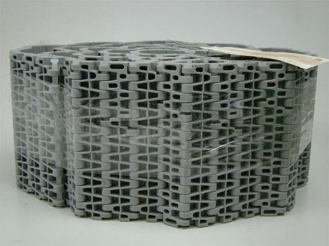 "Plastic Conveyor Belt M2520 Flat Top Polypropylene Gray 5.9"" x 10'"