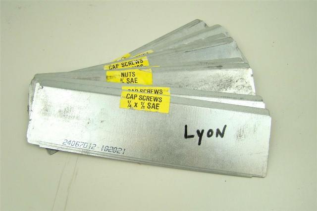 "(8) Lyon Divider 9 1/2 x 2 3/4"", 24067D12"