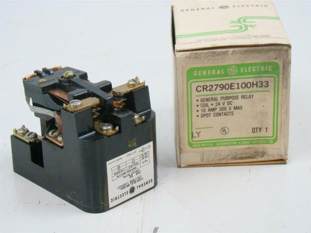 GE General Purpose 10 Amp Relay 300V Max, 24V DC, CR2790E1100H33