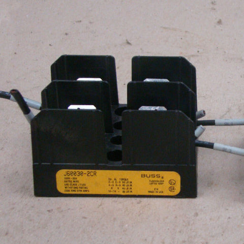 Buss 30 Amp Fuse Holder 600v , J60030-2CR