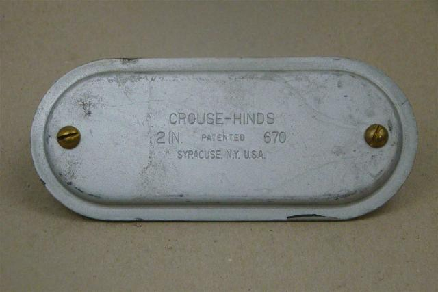 Crouse-Hinds 2in LB Conduit Body Cover , 670
