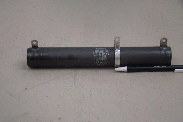 Ohmite 175 Watt Resistor, 250 OHM , 210-175P-46