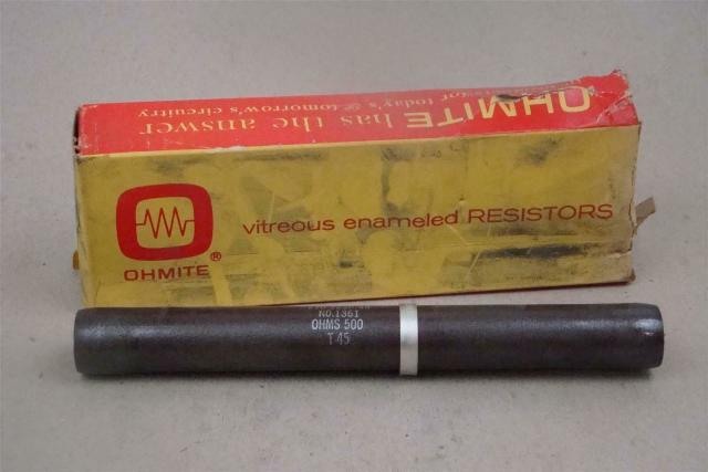 Ohmite Vitreous Enameled Resistor 225w 500 OHM, 210-225P-46