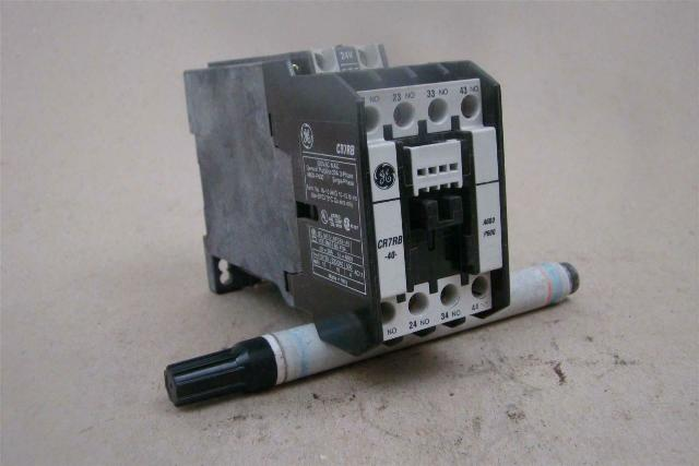 GE General Purpose Contactor Relay, 24v Coil , CR7RB