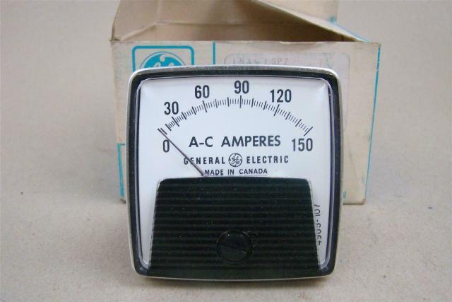 "General Electric 2.5"" AC Amps Panel Meter, 0-150 , L533LSPZ"