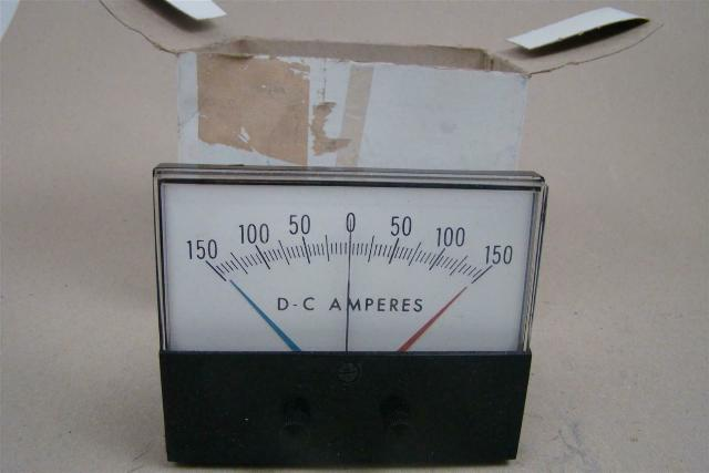 Avnet Industrial DC Amps Panel Meter, 0-150 , 1964-W436-ECPZ-00-LEADS