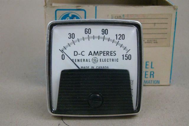 General Electric DC Amps Panel Meter, 0-150 , L532GBPZ