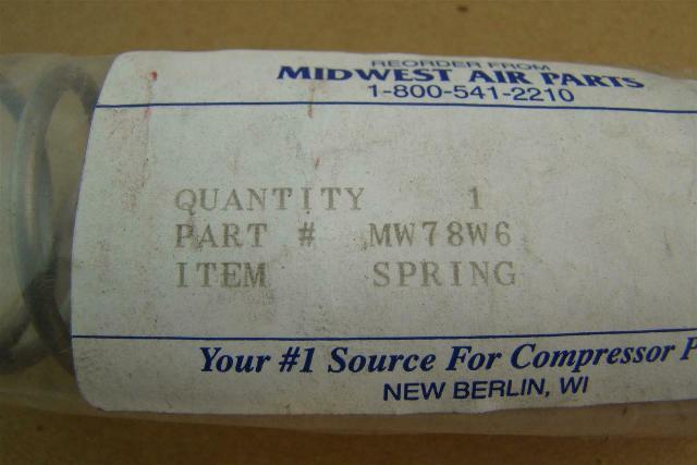 "Midwest Air Parts 5"" Spring , MW78W6"