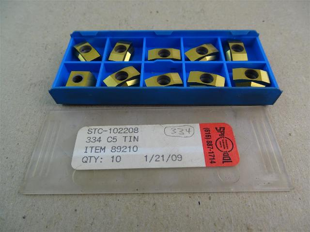 Spec Tool  (Allied Machine ) Tin Coated Inserts 334 C5 , STC-102208