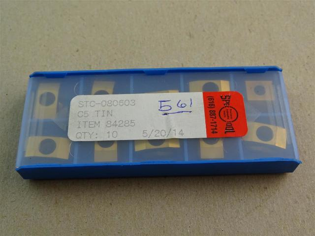 Spec Tool  (Allied Machine) Tin Coated Inserts C5 , STC-080603