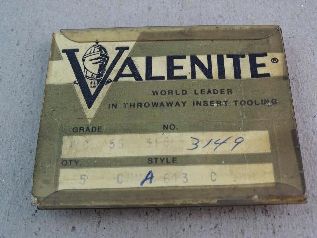 Valenite  Carbide Inserts Grade C 8 Pack, CBD 6F