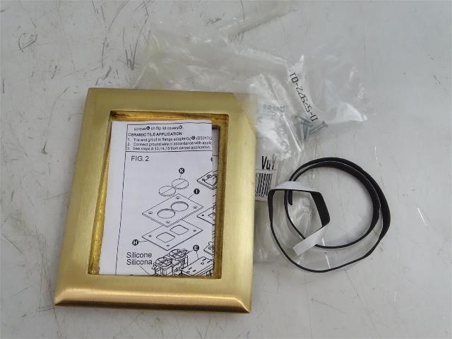 Hubbell  Brass Carpet Flange, Rectangular one Gang  , SB3083