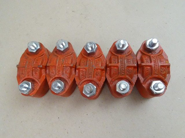 """(5) Victaulic  3/4"""" Grooved  , Couplings"""
