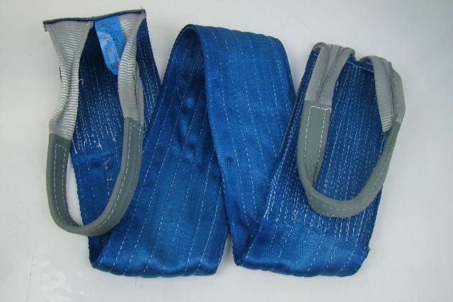 "8"" x 10' Blue Heavy Duty Nylon Sling Tow Recovery Strap 16,000 lbs Single Ply"