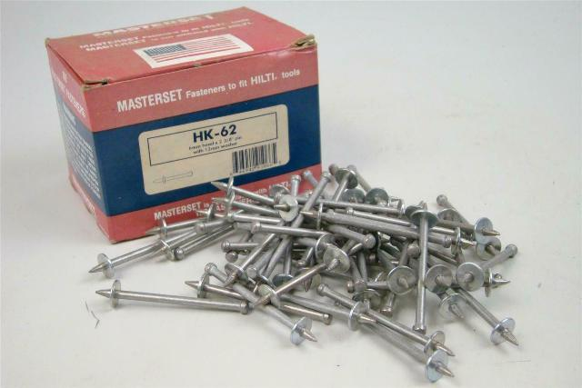 "Masterset Inc.  6mm head x 2 3/8"" pin with 12mm washer  , HK-62"