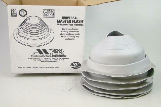 "(5) Universal Master Flash  All Weather Pipe Flashings  4-1/4""-7-3/4"" , 5FG5"