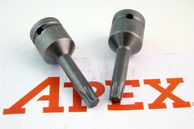 (2) APEXUSA Socket Drive Torx Bit , 854TX5