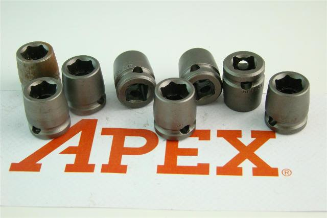 "(8) Apex  7/16 Shallow Well Socket, 3/8"" Drive , 3014"