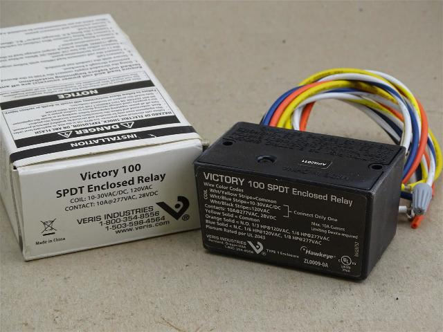 Victory  Enclosed Relay  10-30VAC/DC , 120VAC , 100 SPDT