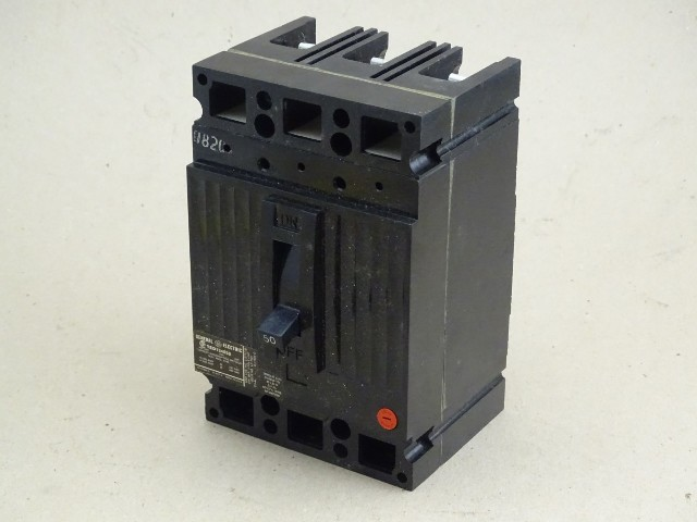 General Electric  Circuit Breaker  480VAC, 50A, 40C, TED134050