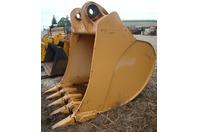 """Liebherr 72"""" Excavator Bucket 5.5 Cubic Yard 120mm Pins 9387890 R974"""