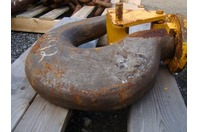"""Large Crane Hook with Latch 4"""" Throat 4130 Alloy"""