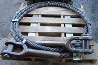 "Schramm Drilling Rig Crosby Cable Assembly 1.75"" x 448"" Clevis Both Ends"