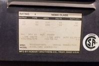 Hobart 600A DC Arc Welder 230/460/575v 3PH, Excel-ARC 8065 CC/CV