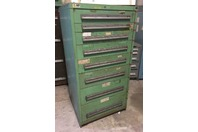 Stanley Vidmar 8 Drawer Industrial Tool Cabinet , 30 x 27-3/4 x 59