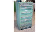 "Stanley Vidmar 8 Drawer Industrial Tool Storage Cabinet , 30 x 27-3/4"" x 59-1/4"