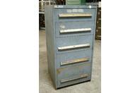 "Stanley Vidmar 5 Drawer Industrial Tool Storage Cabinet , 30 x 27-3/4"" x 59-1/4"