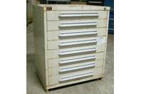 "Stanley Vidmar 8 Drawer Industrial Tool Storage Cabinet , 36-1/4 x 28-1/2 x 44"""