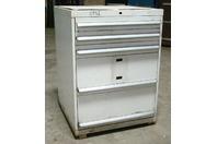 "Stanley Vidmar 5 Drawer Industrial Tool Storage Cabinet , 29-1/2 x 29-3/4 x 42"""