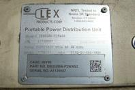 LEX 100kW Portable Power Distribution Unit 350A, 208/120v, 3P,4W, DB350MA-P2WAS3