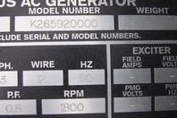 Rockwell 30kVA Synchronous AC Generator 230/460v,3PH, 60Hz, 50HP, 4P1-060