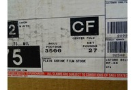 (40) Sealed Air Plain Shrink Film Stock  Roll Footage 3500 , D955