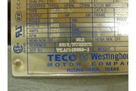 Teco Westinghouse 200HP Inverter Duty Electric Motor 1785rpm  460v, 031-2028451