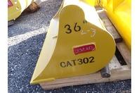 """Teran 36"""" Excavator Ditching Bucket  35mm Pins, CAT302"""