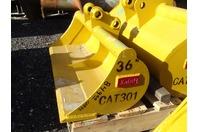 """Teran  36"""" Excavator Ditching Bucket  30mm Pins , CAT301"""