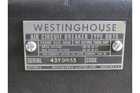 Westinghouse  75000A AC 600v Air Circuit Breaker  , DB75