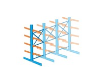 Interlake 12 FT. Double Tree Cantilever Rack - (1 SECTION) Narrow