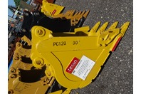 "30"" Excavator Bucket, Komatsu, 60mm Pin,  10 1/2""between Ears, PC120"