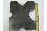 "(PAIR) 8.5x10 Arbor Plates 1.5"" Thick, Hydraulic H-Frame Shop Press, V-Cut"