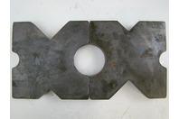 "(PAIR) 9.75x9.75 Arbor Plates 1.625"" Thick, Hydraulic H-Frame Shop Press, V-Cut"