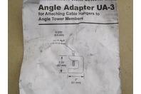 "Commscope  Stainless Steel Angle Adaptor  3/4"" Hole , UA-3"