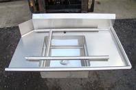 "Stainless Select Soiled Dish Table Stainless Steel Right Side, 48"" x 28"""